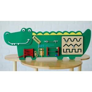 Бизиборд Крокодильчик