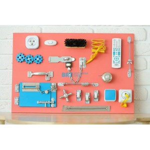 Бизиборд Розовый