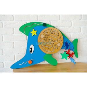 Бизиборд Синяя рыбка