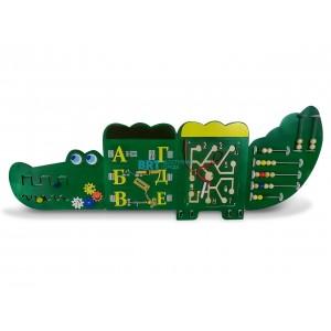 """Тактильно-развивающая панель """"Крокодил"""""""