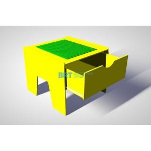 Лего-стол с выдвижным ящиком «Новые горизонты»