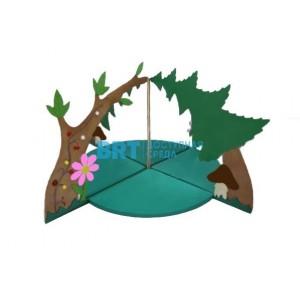 Декоративно-развивающая панель Полянка
