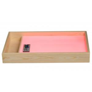 Световой планшет для рисования песком с отсеком (400х600 мм)