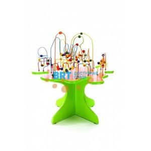 Игровой стол с бусинами зеленый