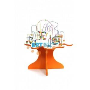 Игровой стол с бусинами оранжевый
